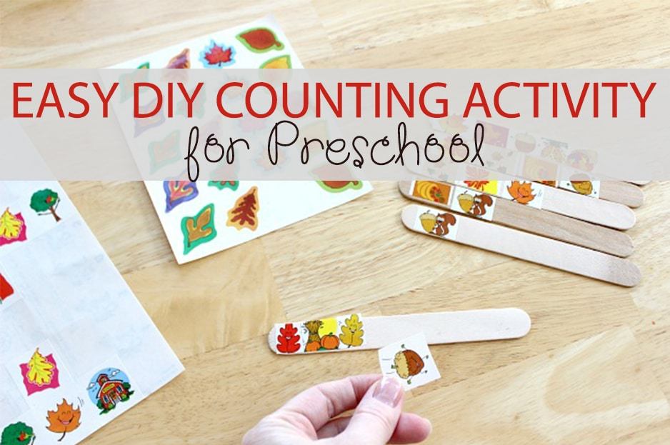 Easy DIY Counting Activity