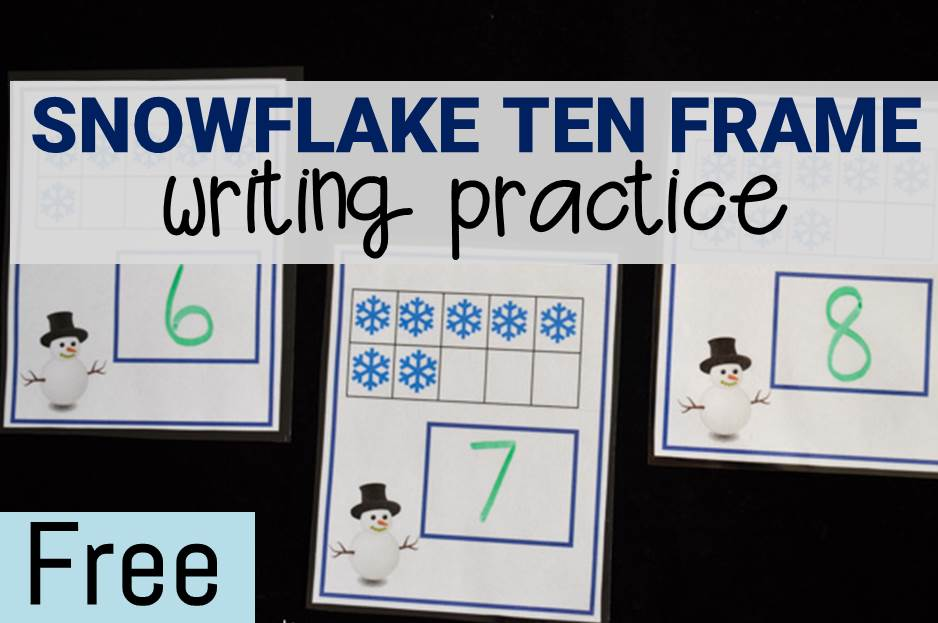 Snowflake Ten Frames Writing Practice