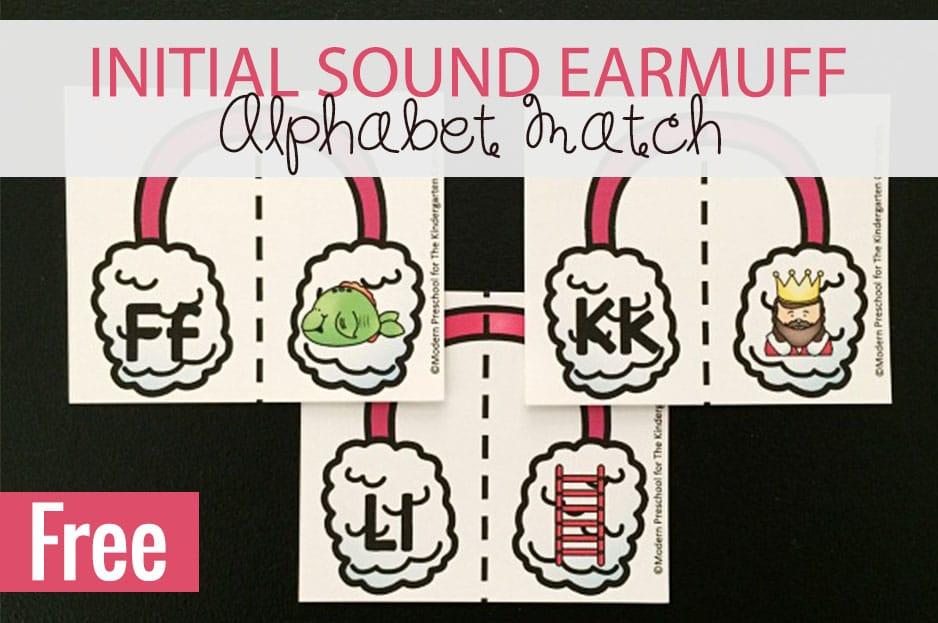 Initial Sound Earmuff Alphabet Matching