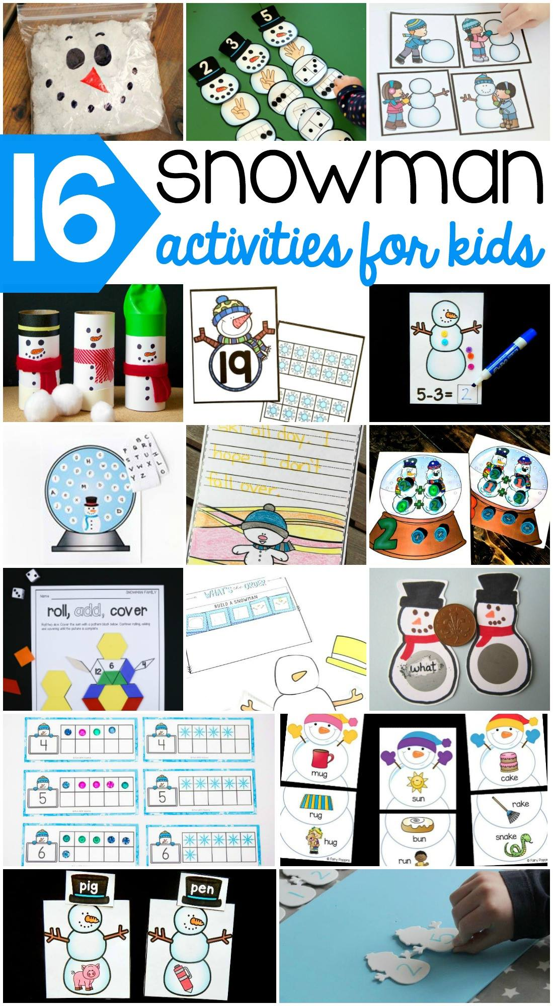 Such an awesome collection of snowman activities for kids!