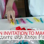 An Invitation to make Patterns with Loose Parts