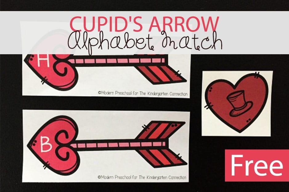 Cupid's Arrow Alphabet Match