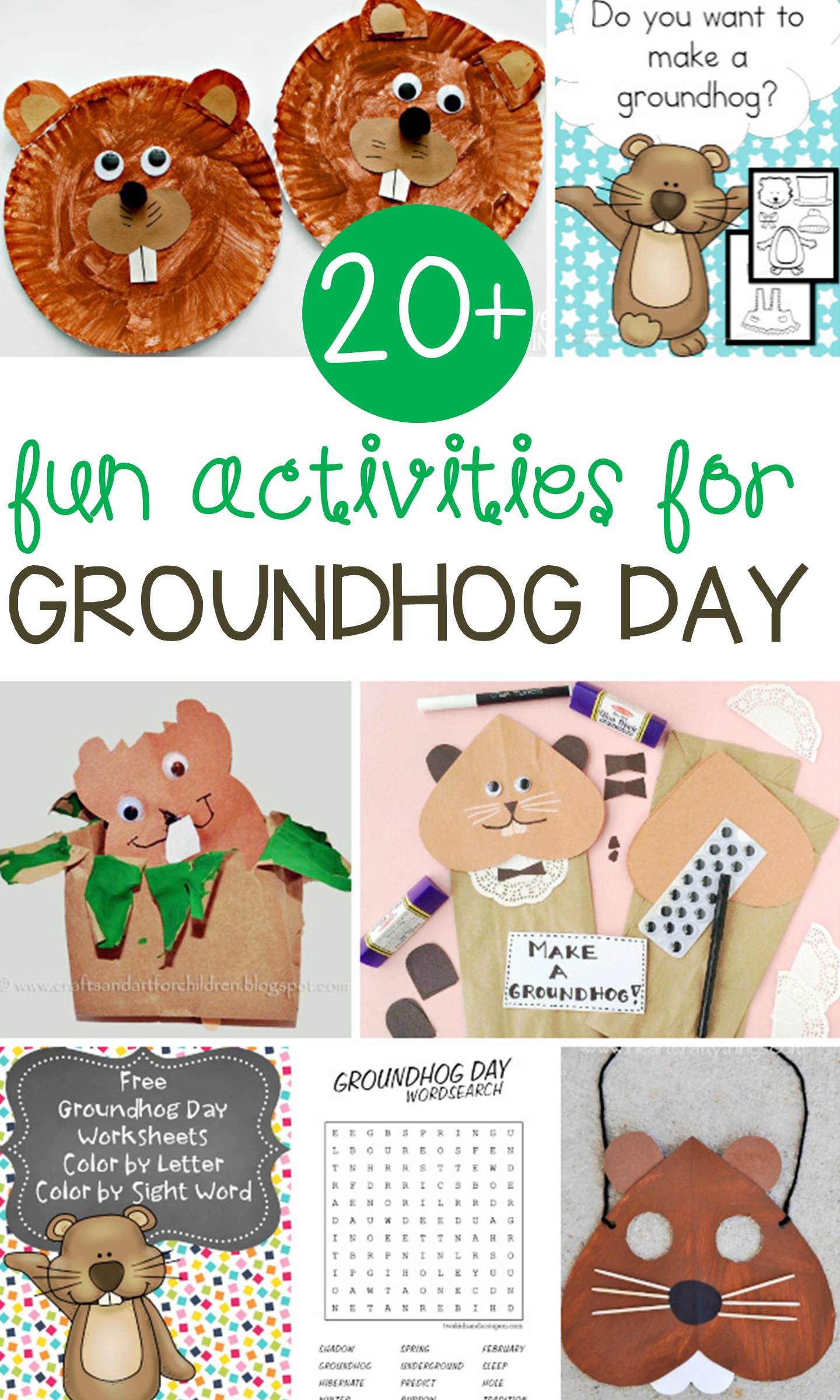 Fun groundhog day activities for kids for Groundhog day crafts for preschoolers