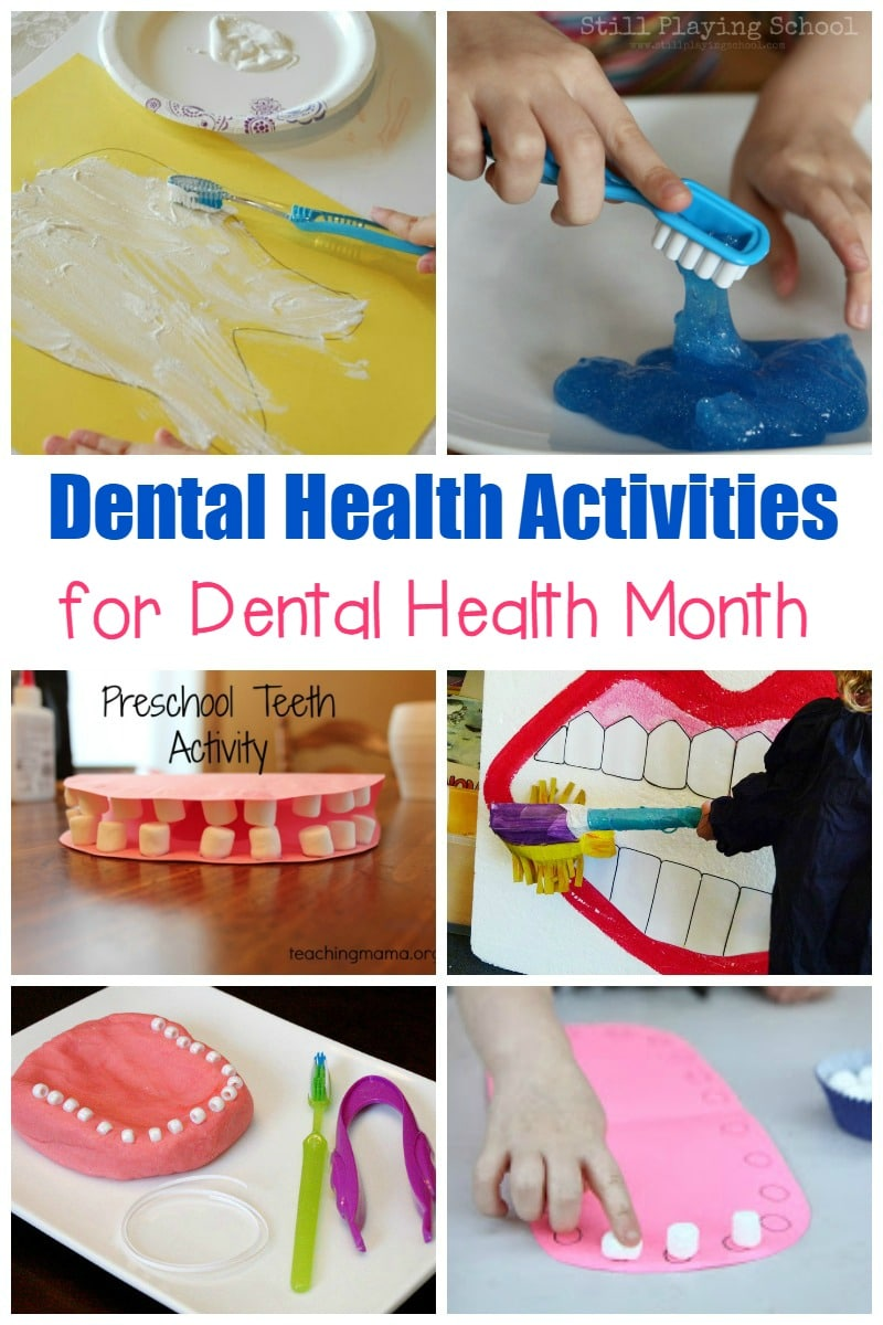 Did you know that February is Children's Dental Health month? Teach your kids how to improve their dental health with these fun dental health activities.