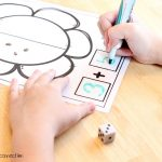 Flower Addition and Subtraction Math Mats Free Printables, addition write
