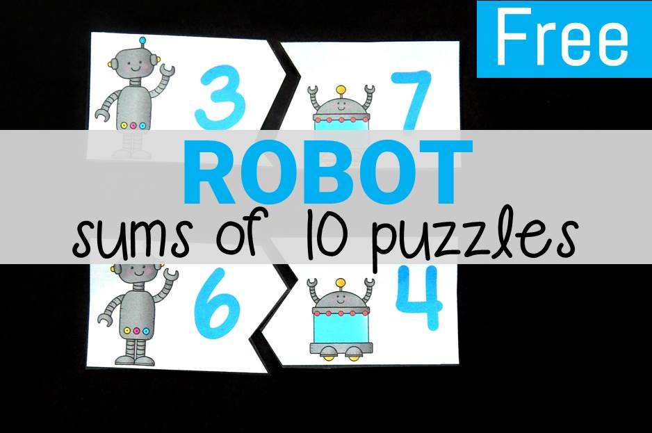 Robot Sums of 10 Puzzles
