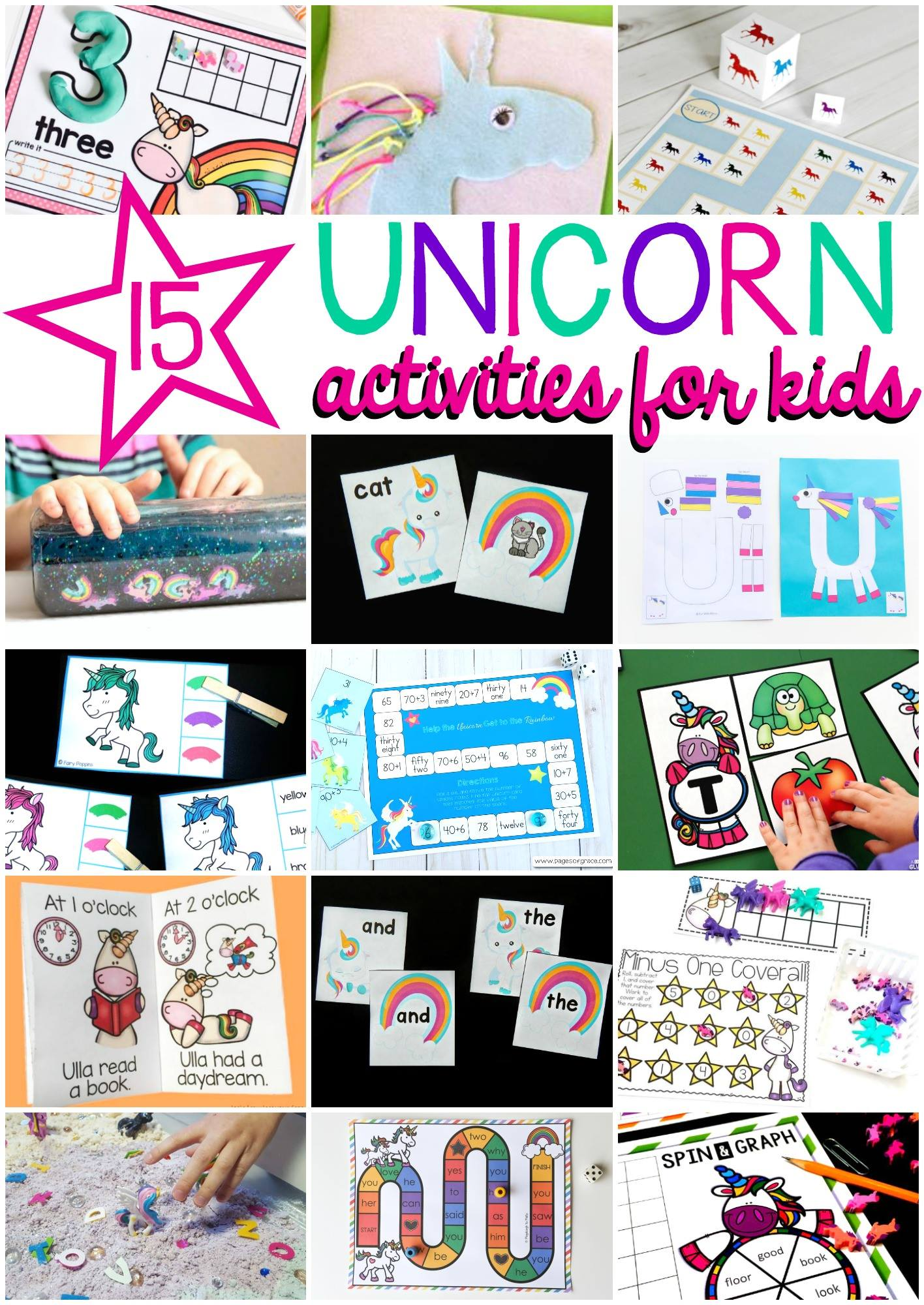 15 awesome unicorn activities for kids!