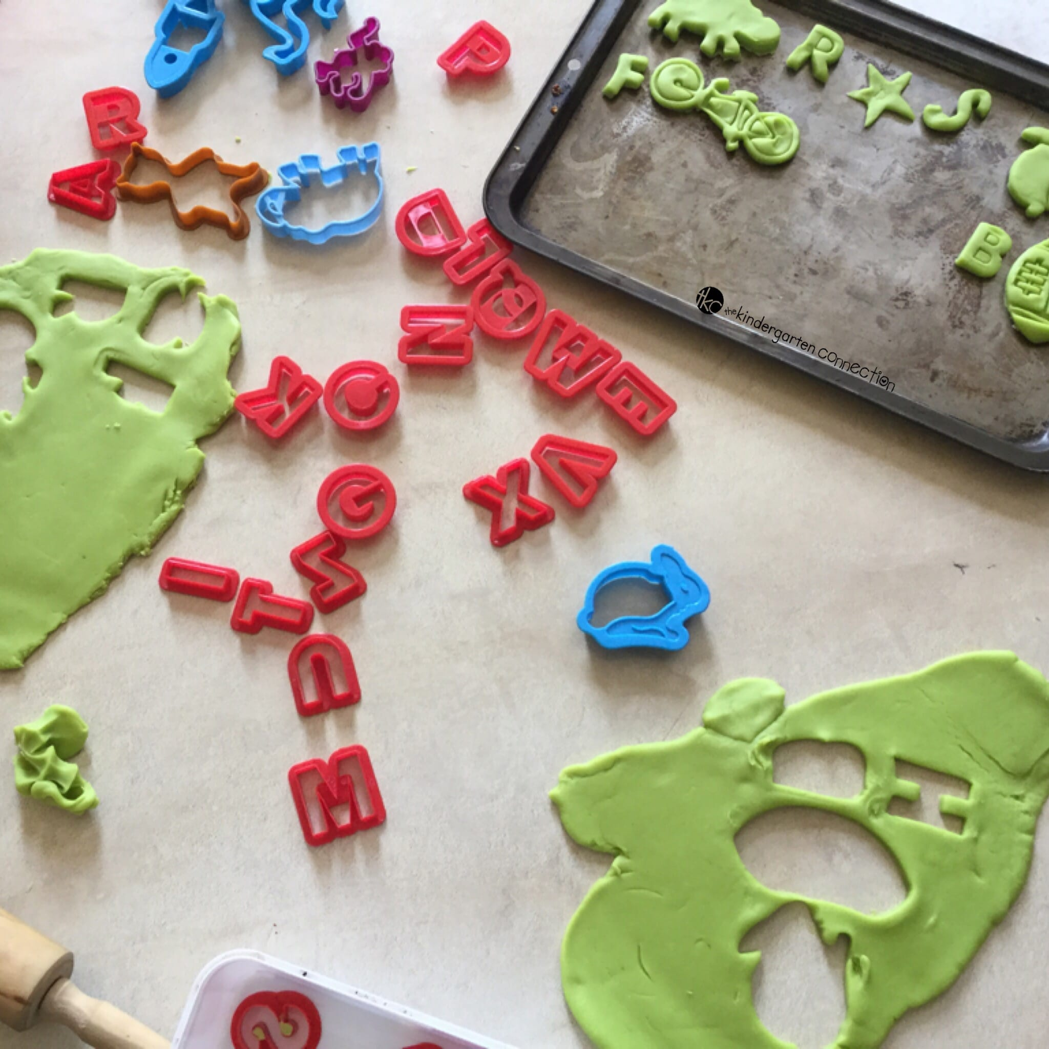Playdough is so versatile and makes a great sensory material to use for learning. Use playdough for this fun initial sound playdough cookies activity!