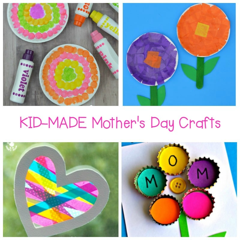 These kid-made Mother's Day crafts are simple enough for kids to make themselves, but meaningful enough for Mom to treasure for years to come!