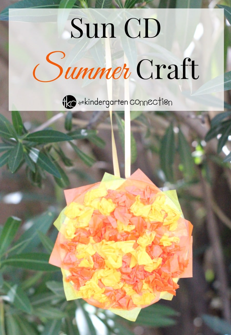 This tissue paper Sun CD Summer Craft is great for kids because not only is it frugal and easy to make, but it's so much fun to do!