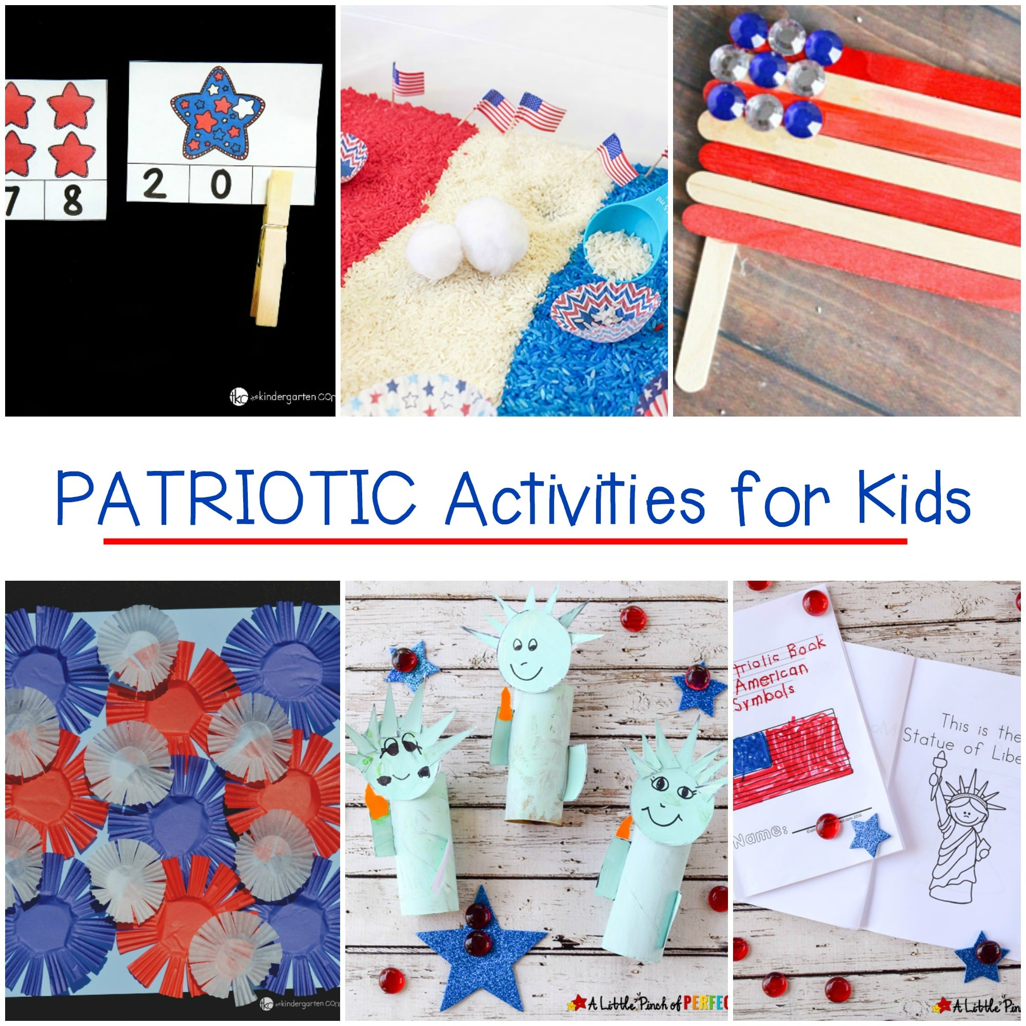 These fun printables, crafts, and patriotic activities for kids are perfect for Memorial Day, the 4th of July, President's Day, and Veteran's Day!