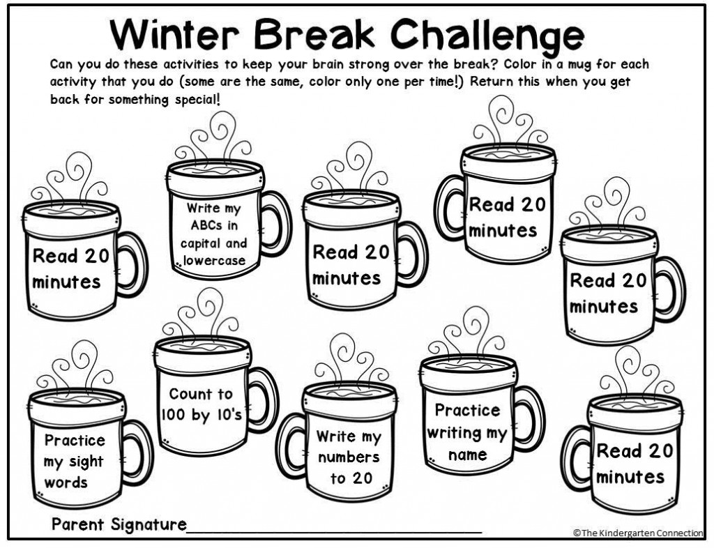 This editable winter break homework is great for Kindergarten or 1st grade before Christmas vacation!