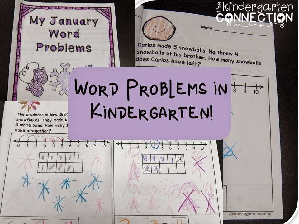 Word problem journals (and a freebie!) - The Kindergarten Connection