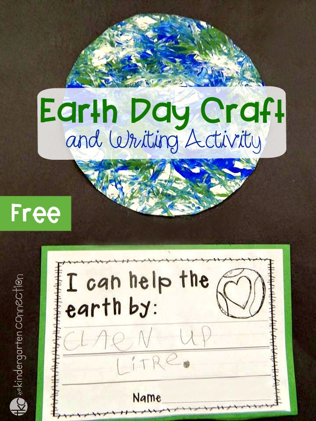 photograph about Printable Earth Pictures titled Cost-free Printable Globe Working day Creating Game and Craft Task