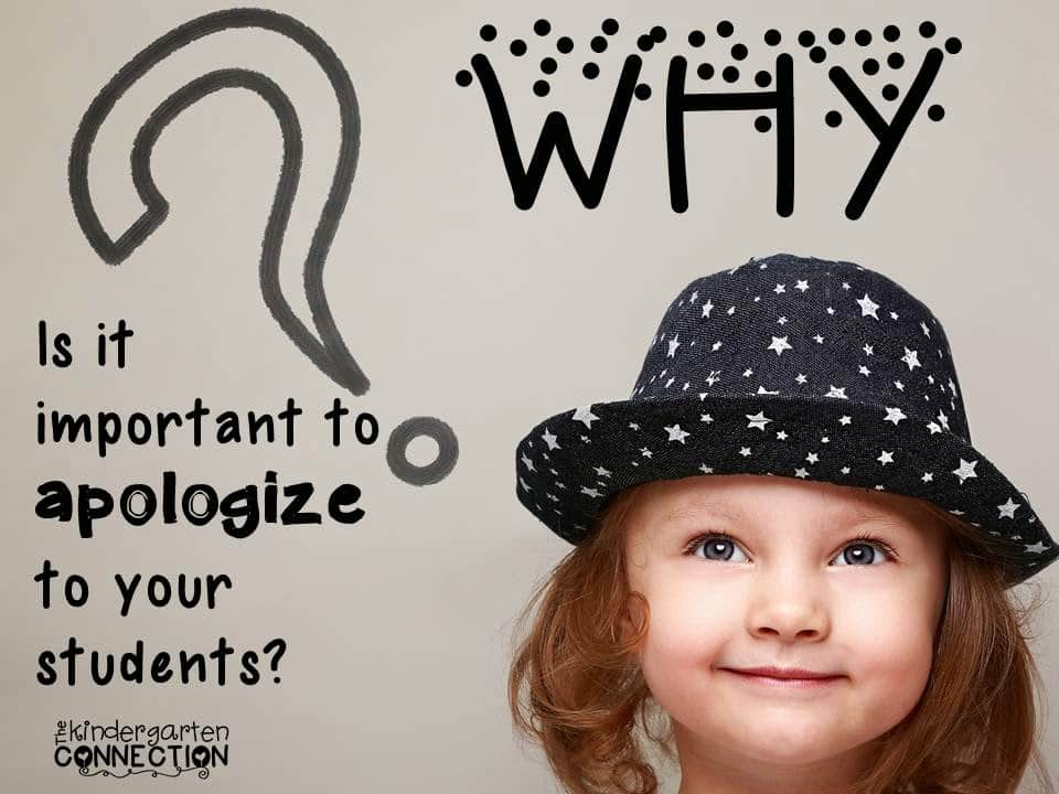 Apologizing to Students – Why you should