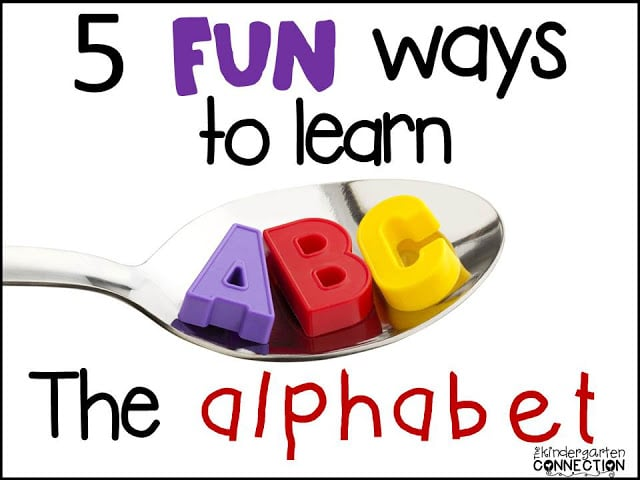 5 FUN Ways to Learn the Alphabet