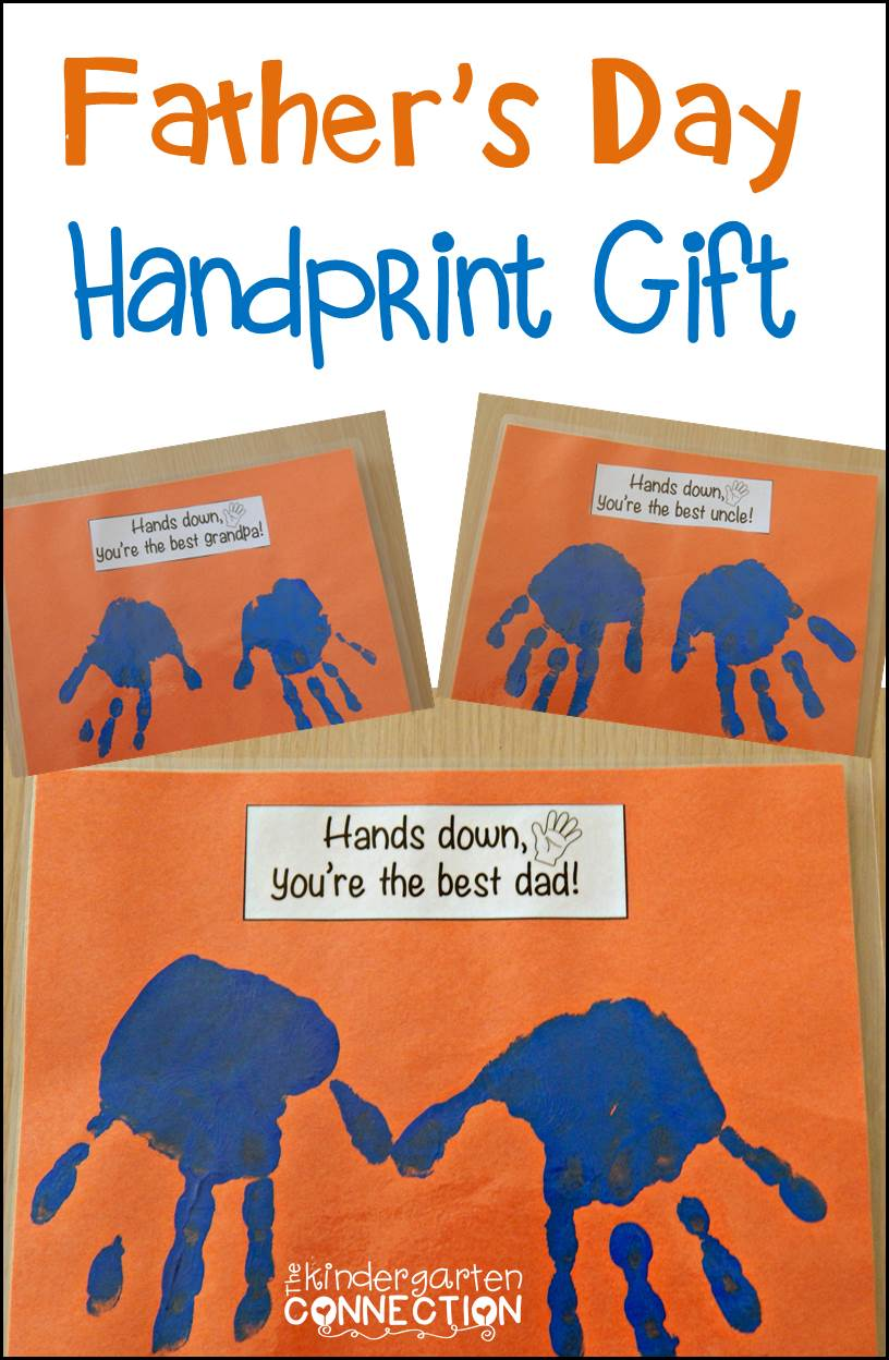 Father S Day Handprint Gift The Kindergarten Connection