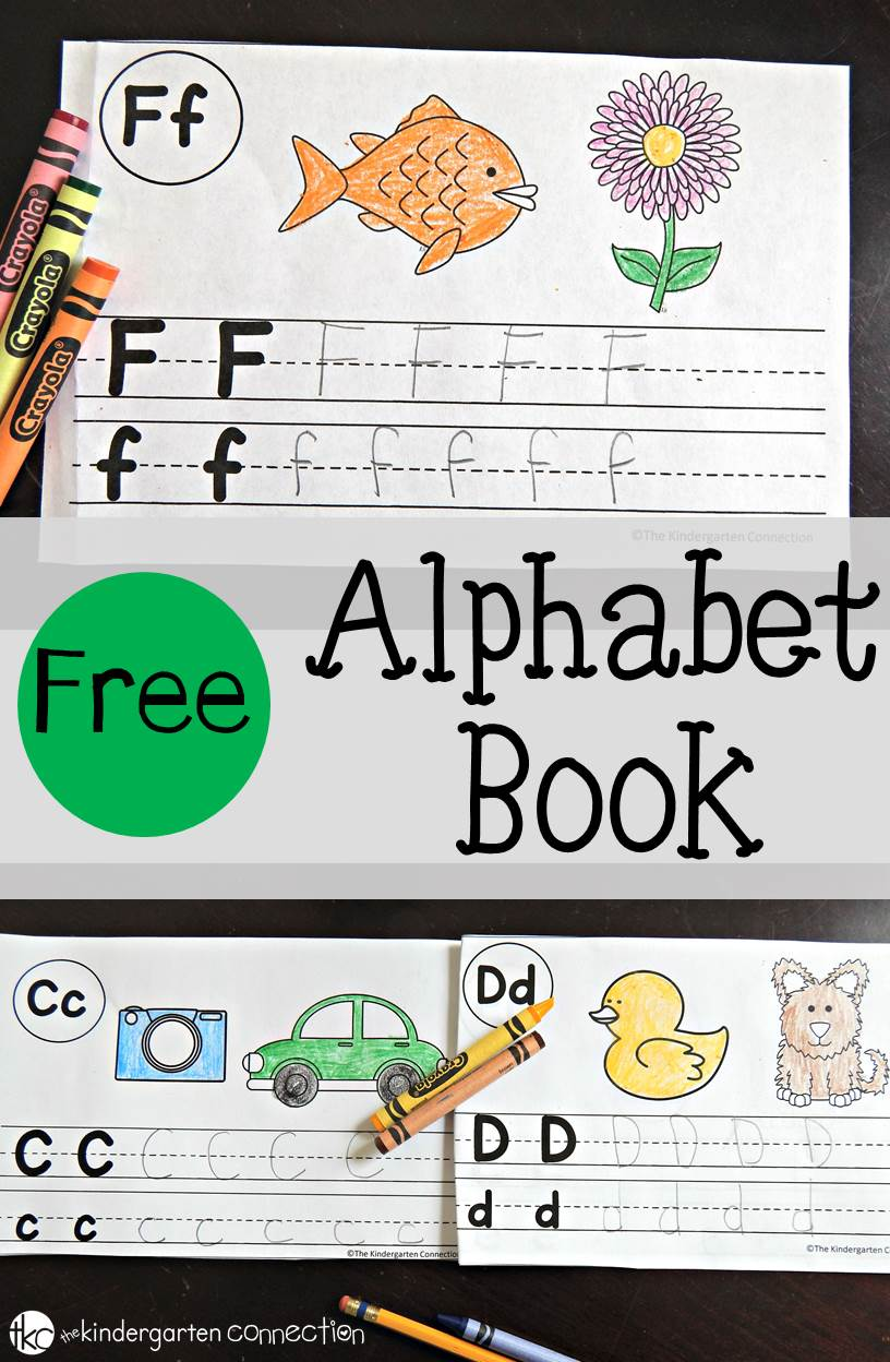 photograph about Alphabet Book Printable named Absolutely free Alphabet Ebook - The Kindergarten Romance