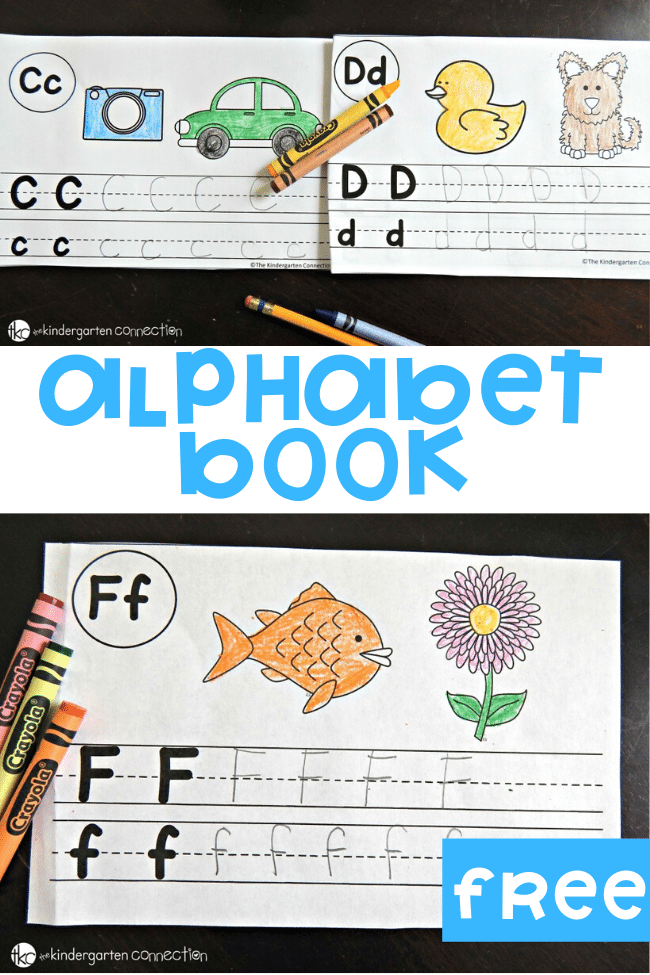 A Free Printable Alphabet Book to help with beginning sounds, letter recognition and writing letters. #freeprintables #preschool #kindergarten #alphabet