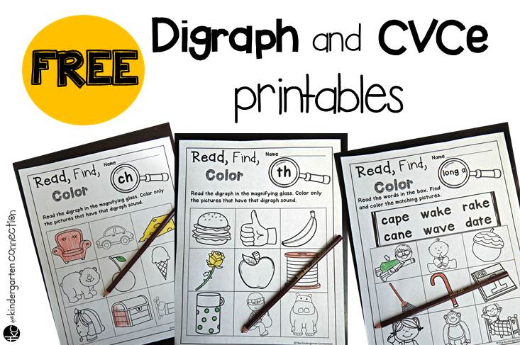 Free digraphs and CVCe printables
