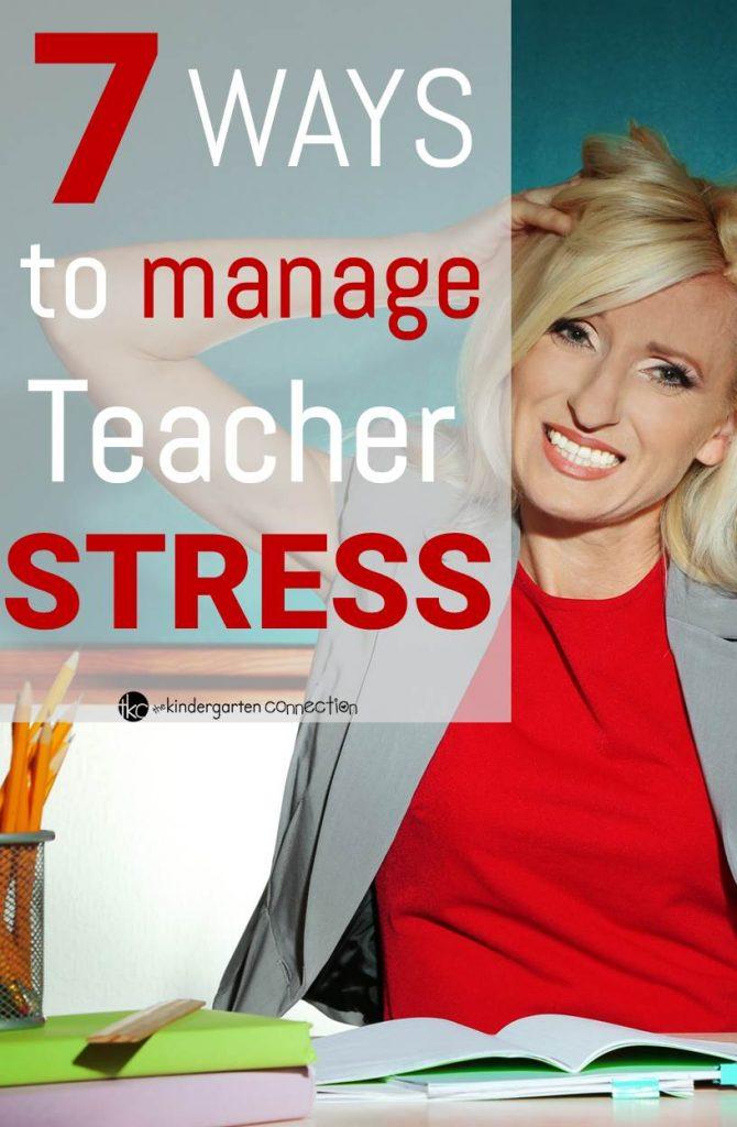 ways to manage teacher stress