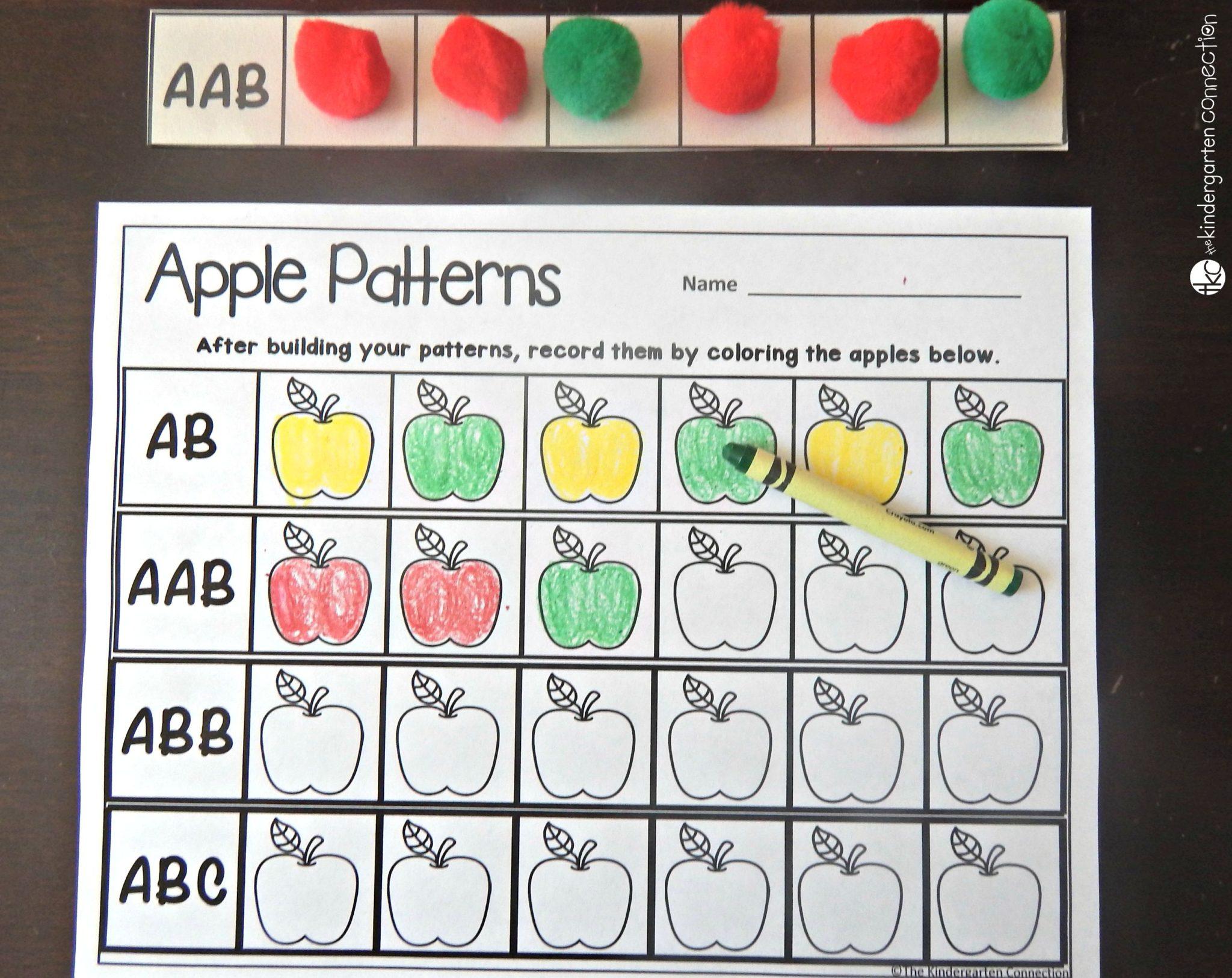 Apple Patterns - The Kindergarten Connection