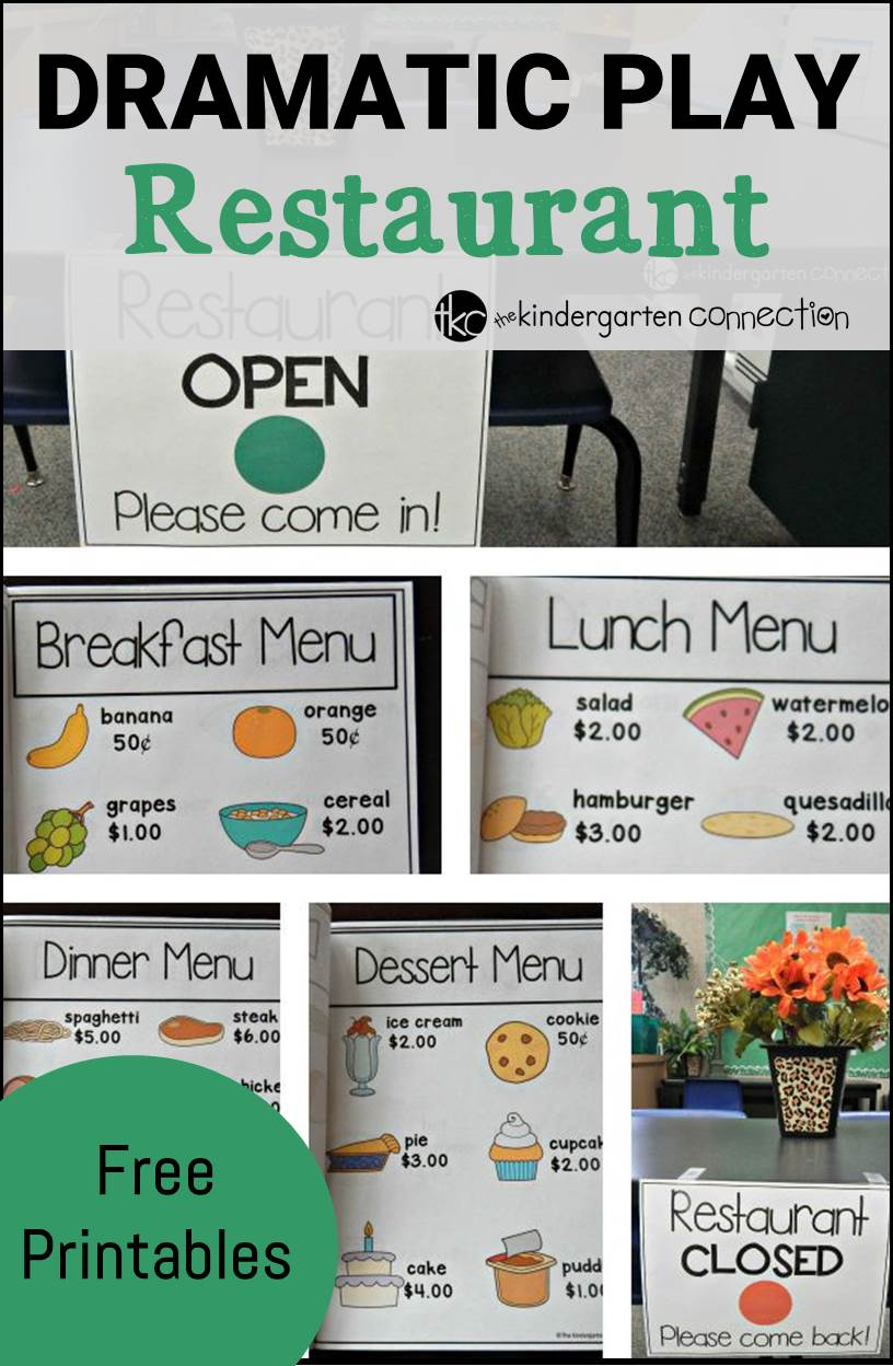 printable restaurant menu