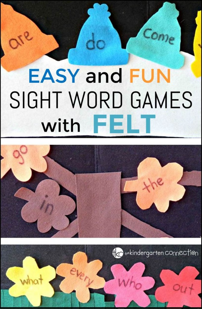 Sight Word Felt Games
