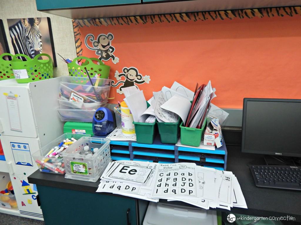 Messy Classroom Piles