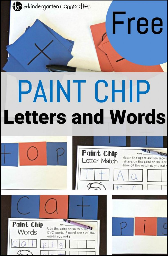 Paint chip letters and words