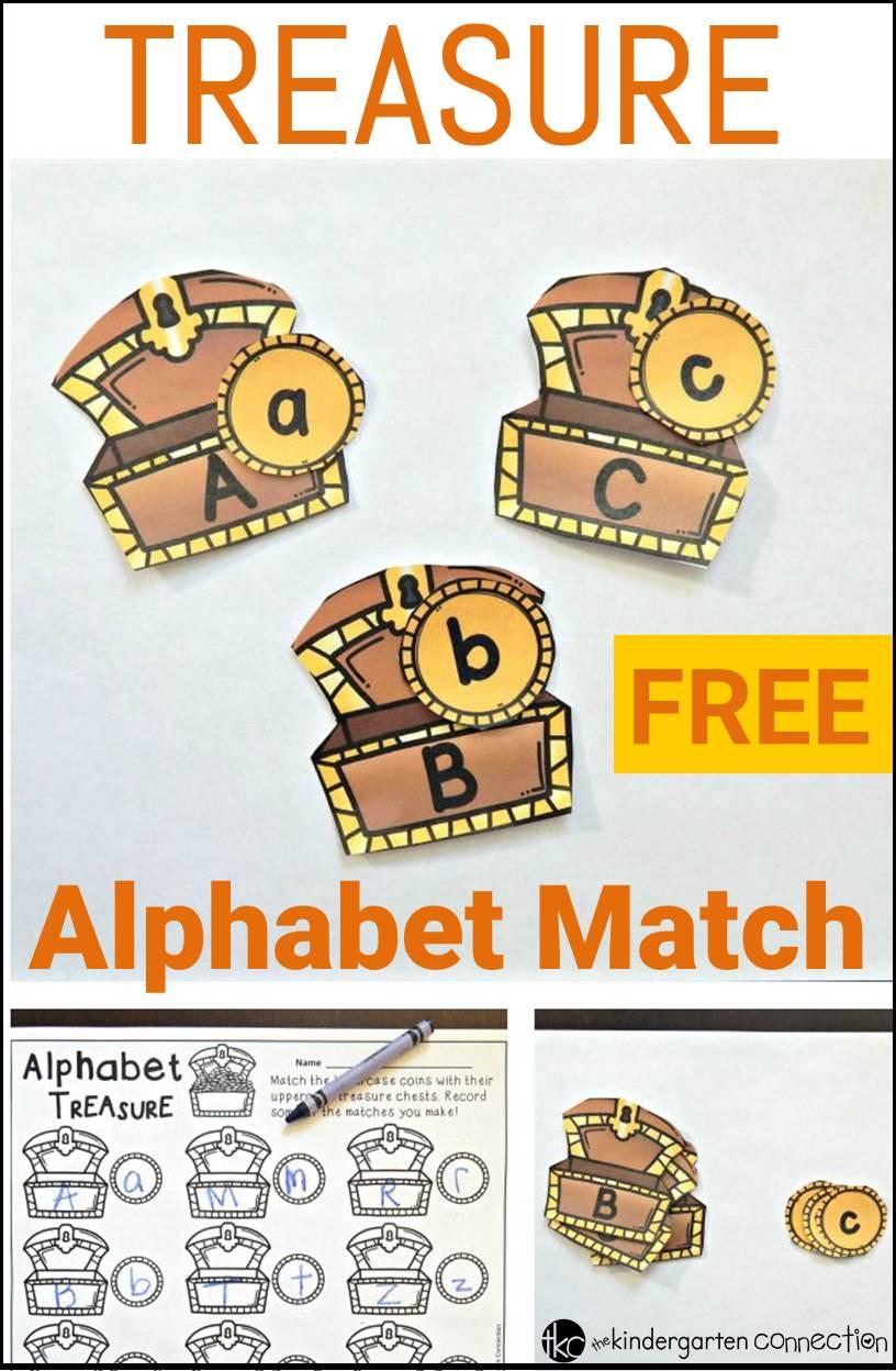 Treasure Alphabet Match The Kindergarten Connection
