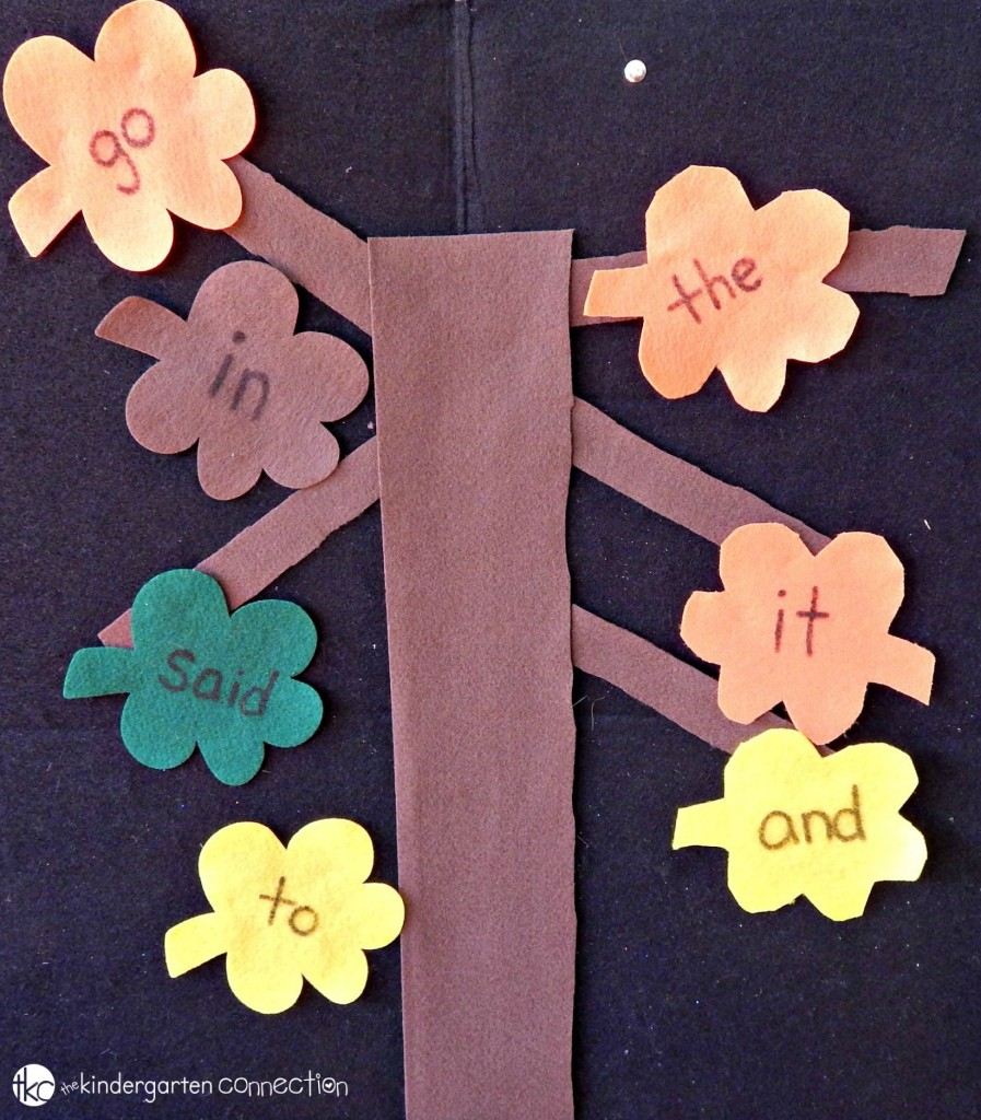 sight word games with felt