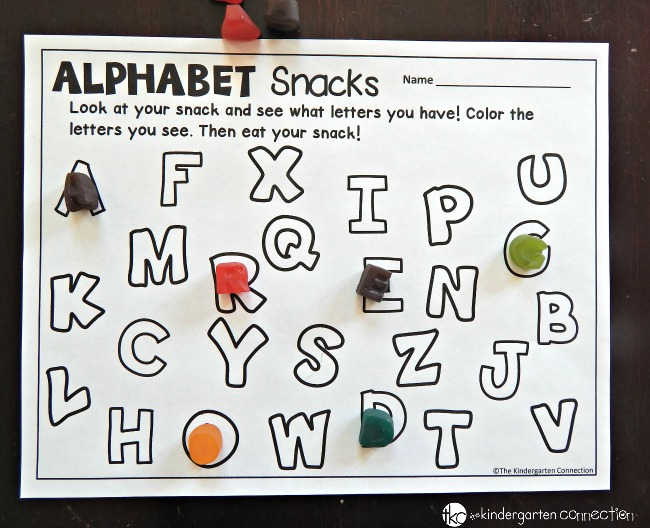 alphabet snack printables