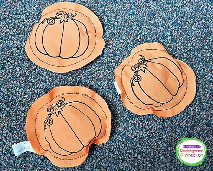 Most bean bag toss games come with the bean bags, which can be used for multiple activities(songs, chants at circle time, etc.).