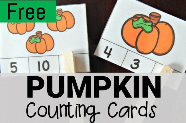 pumpkin counting cards