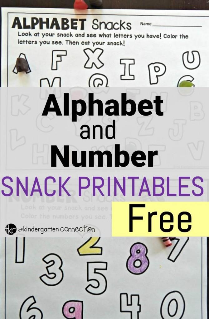 Snack Printables