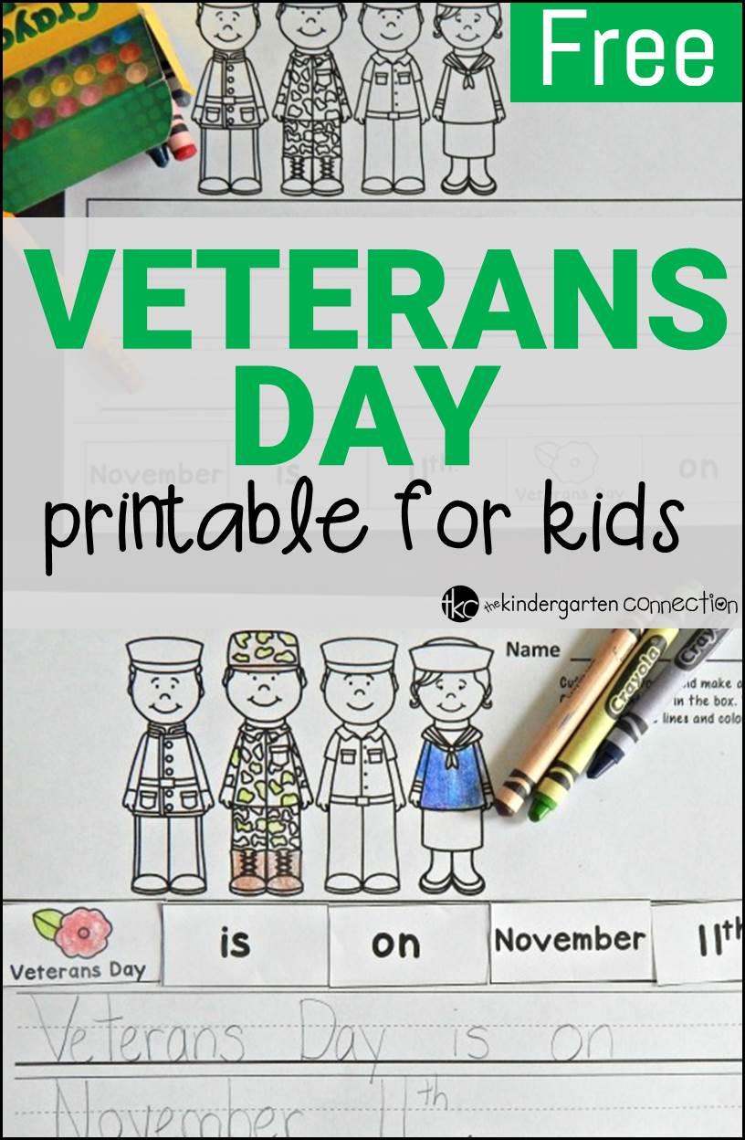 Uncategorized Free Veterans Day Worksheets free veterans day activity the kindergarten connection a for kids to work on cutting pasting and printing