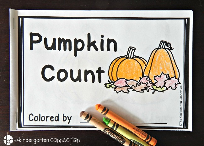 This pumpkin emergent reader is great for fall! Work on counting, number words, tracking and other early reading skills.