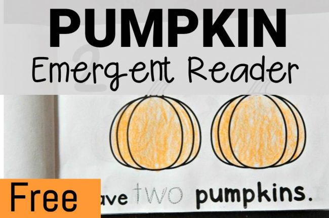 pumpkin emergent reader