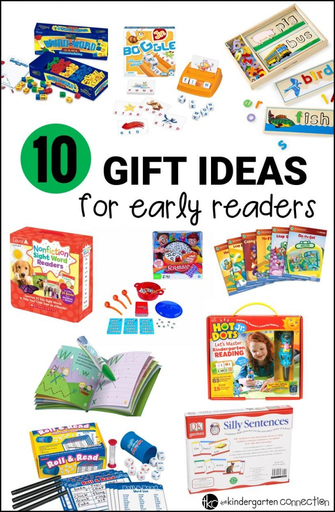 Such fun gift ideas for kids! Great beginning reader gifts for learning the alphabet, sight words, blending, and more. These make great Christmas gifts for kids, but work for the classroom or anytime too!