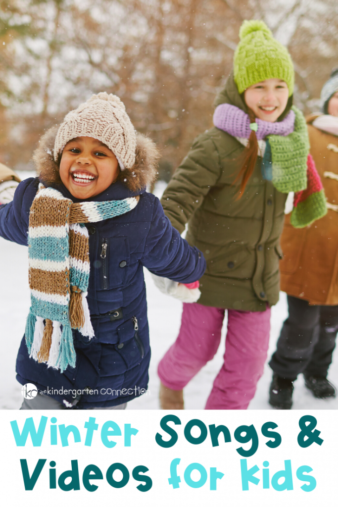 Winter Songs and Videos that can be used in your classroom or home for extra winter engagement and fun! #winterunit #winteractivities #kindergartenteachers #preschoolclassrooms
