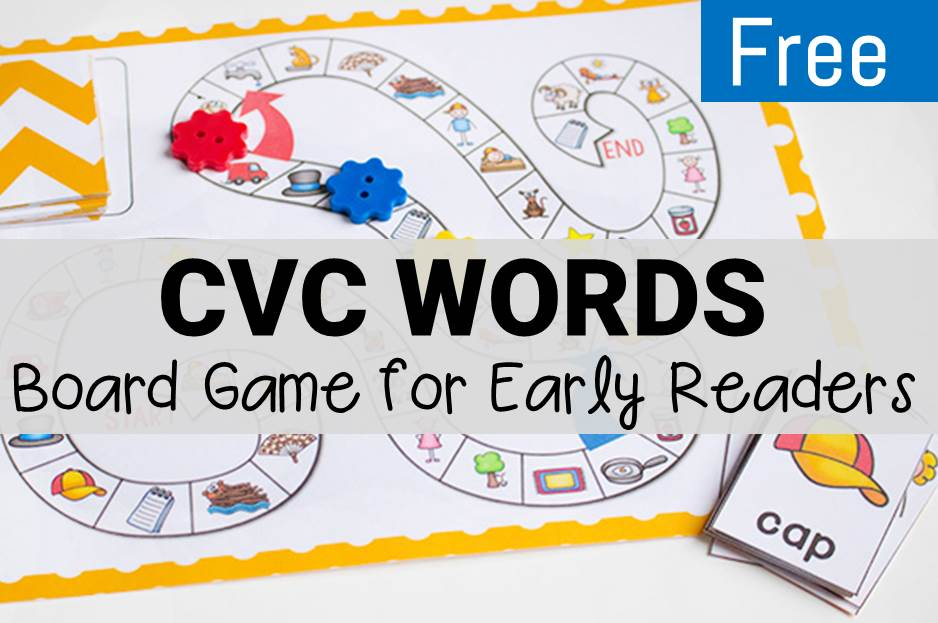CVC Rhyming Words Board Game