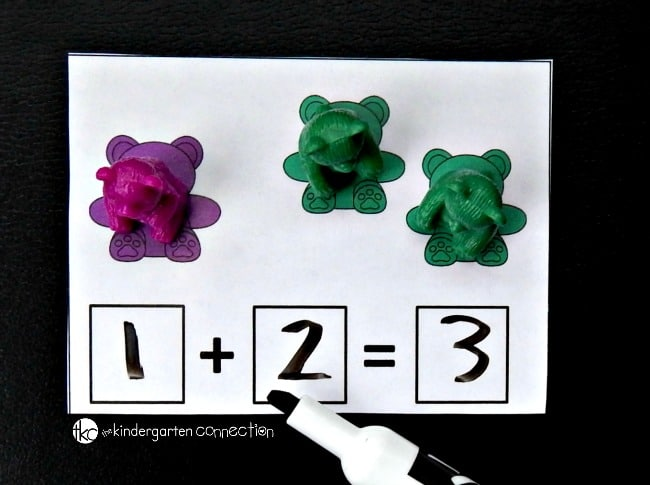 Counting bear addition cards example 2