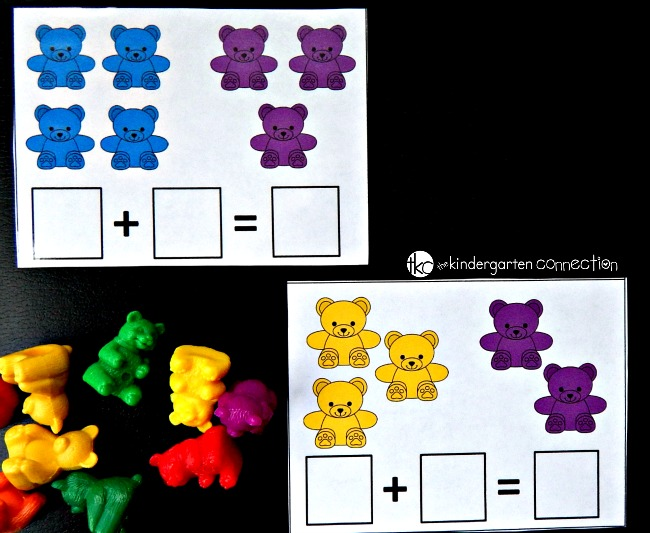 Counting bear addition cards prep