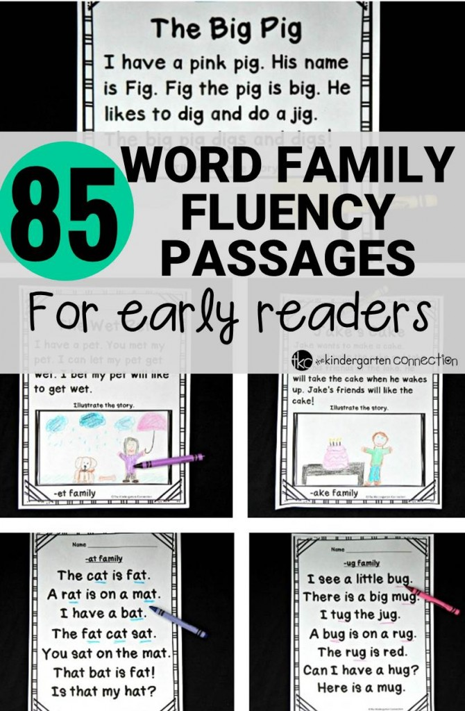 Fluency Passages for Early Readers - The Kindergarten Connection