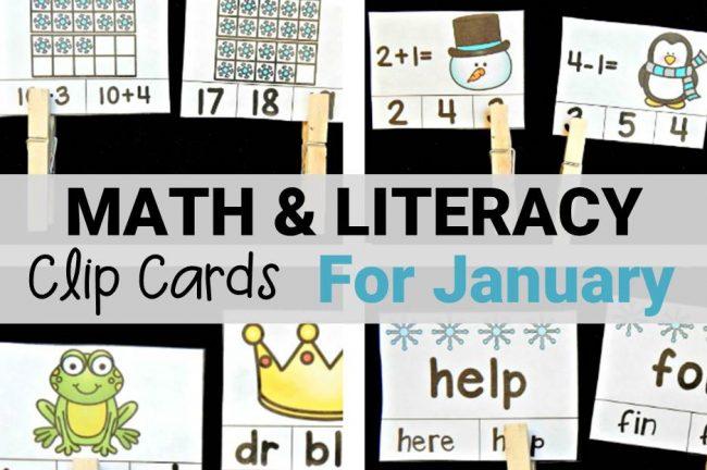 clip cards for kindergarten