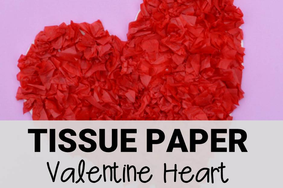 Tissue Paper Valentine Heart Craft