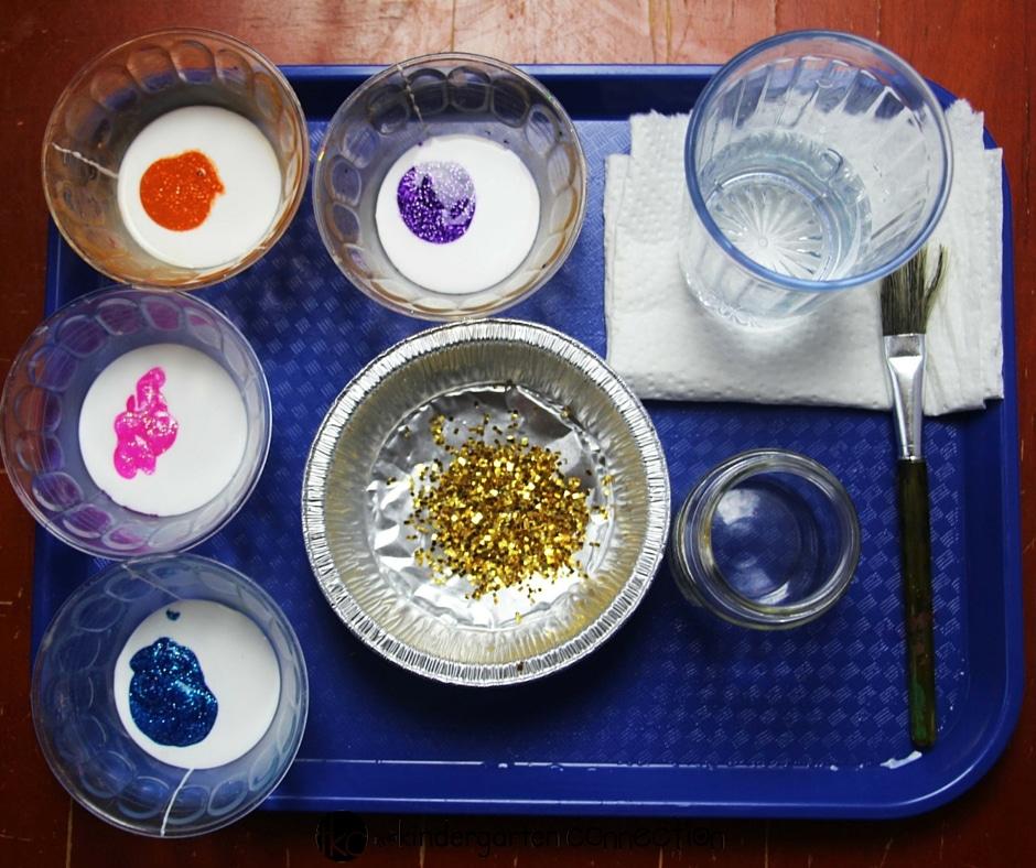 nebula in a jar craft for kids