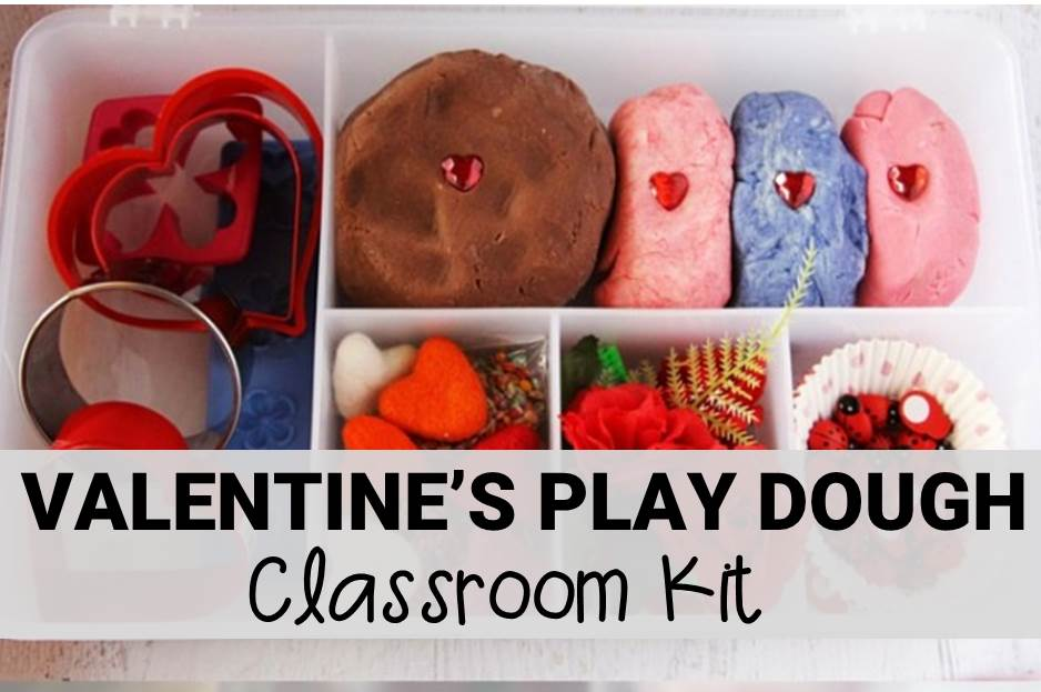 Valentine's Day Play Dough Kit