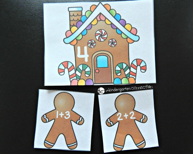 Have fun working on sums to 10 with this free gingerbread themed addition game. Perfect for hands on math centers and building fact fluency!